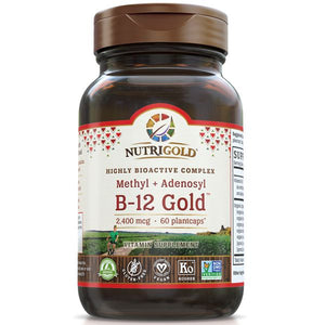 A bottle of NutriGold Vitamin B-12 Gold