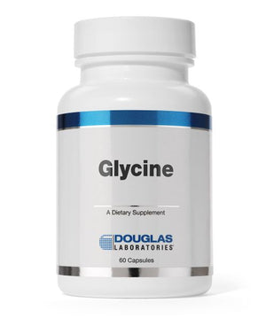 A bottle of Douglas Laboratories Glycine 500 mg
