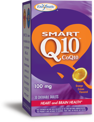 A package of Enzymatic Therapy SMART Q10™ CoQ10