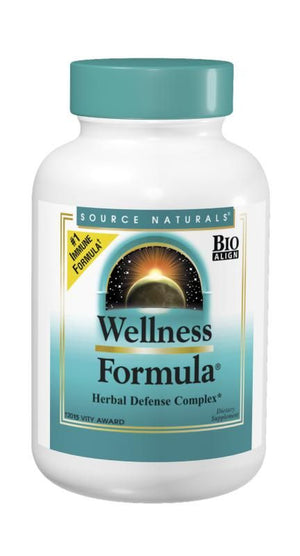 A bottle of Source Naturals Wellness Formula® Tablets