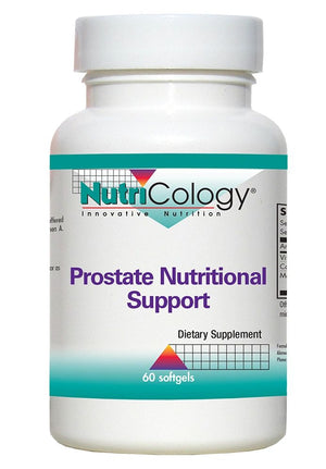 A bottle of NutriCology Prostate Nutritional Support