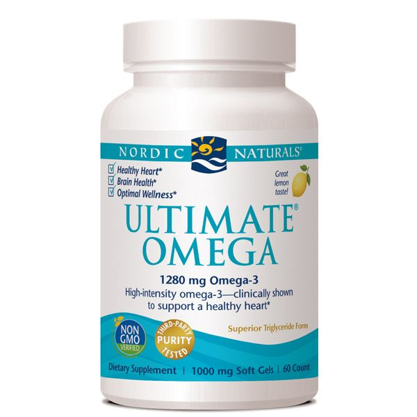 A bottle of Nordic Naturals Ultimate Omega