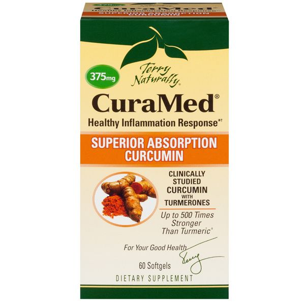 A package of Terry Naturally CuraMed® 375 mg