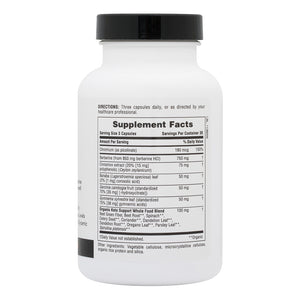 Side of jar with supplemental facts for Nature's Plus KetoLiving™ Sugar Control Capsules