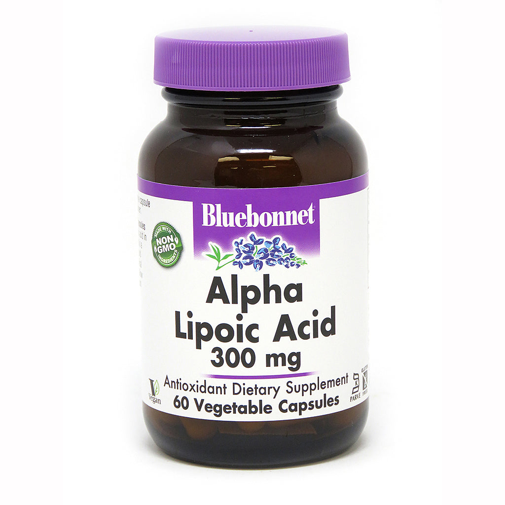 A bottle of Bluebonnet of Alpha Lipoic Acid 300 mg
