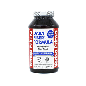 A bottle of Yerba Prima Daily Fiber Formula