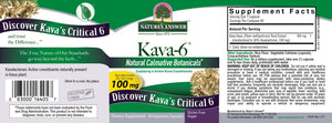 Label with supplemental facts for Nature's Answer Kava-6