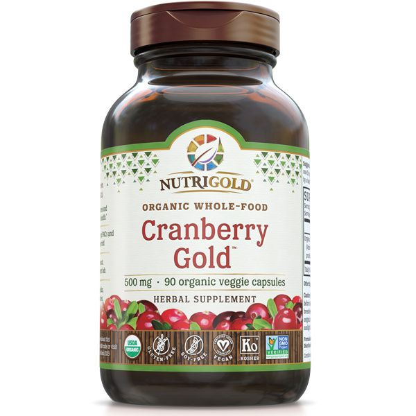 A bottle of NutriGold Cranberry Gold