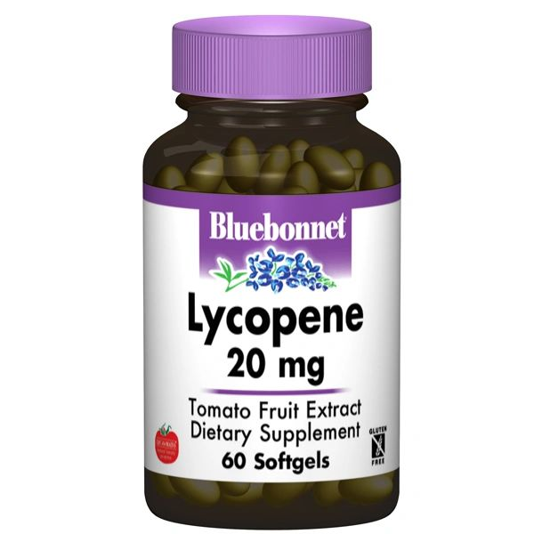 A bottle of Bluebonnet Lycopene 20 mg