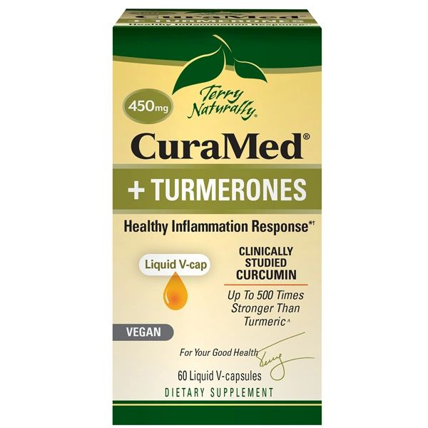 A package of Terry Naturally CuraMed® + Turmerones