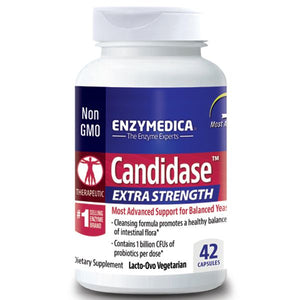 A bottle of Enzymedica Candidase™ Extra Strength