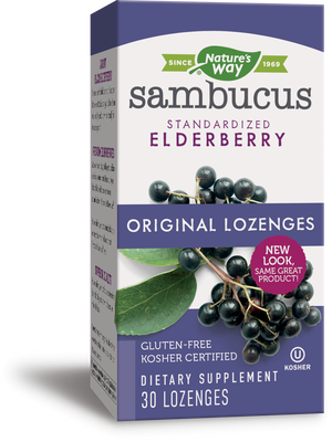 A package of Nature's Way Sambucus Original Lozenges