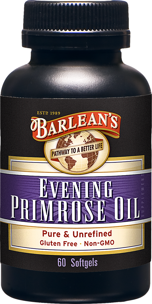 A bottle of Barleans Evening Primrose Oil