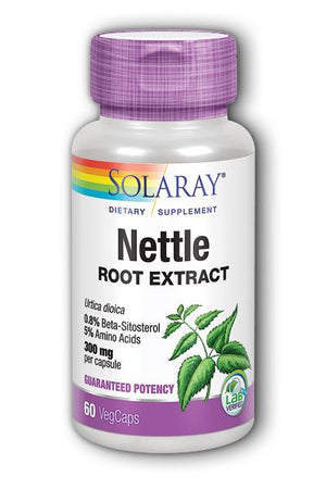 A bottle of Solaray Nettle Root Extract