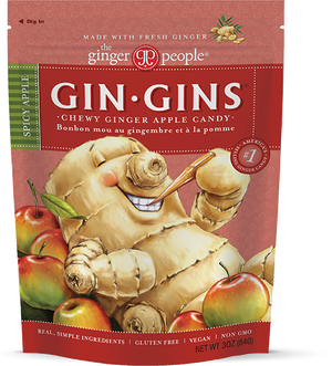 Gin Gins® Spicy Apple Ginger Chews The Ginger People