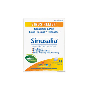 A bottle of Boiron Sinusalia® Tablets