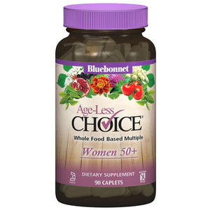 A pill bottle of Bluebonnet Age-Less Choice® for Women 50+