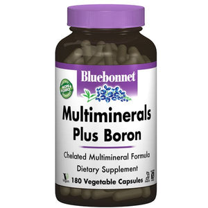 A bottle of Bluebonnet Multiminerals Plus Boron