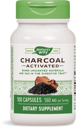 A bottle of Nature's Way Charcoal Activated