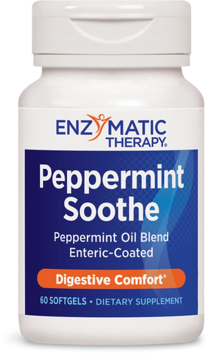 A bottle of Enzymatic Therapy Peppermint Soothe