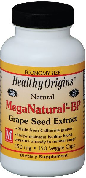 A bottle of Healthy Origins for MegaNatural® BP-Grape Seed Extract 150 mg