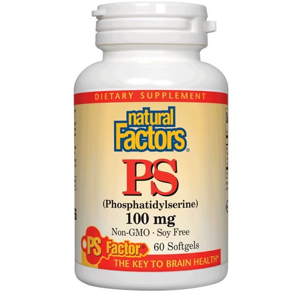 A bottle of Natural Factors Phosphatidylserine 100 mg