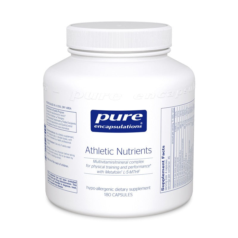 A bottle of Pure Athletic Nutrients
