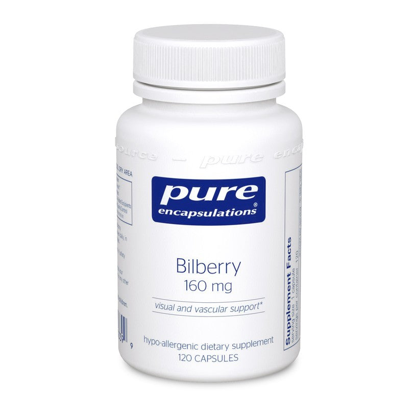 A bottle of Pure Bilberry 160 mg