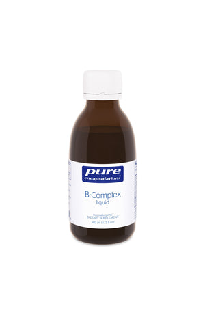 A bottle of Pure B-Complex liquid