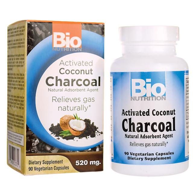 Package and Bottle of Activated Coconut Charcoal