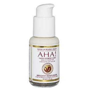 A bottle of AHA! Brilliant Moisturizer 1.75 oz - for Normal/Combination Skin