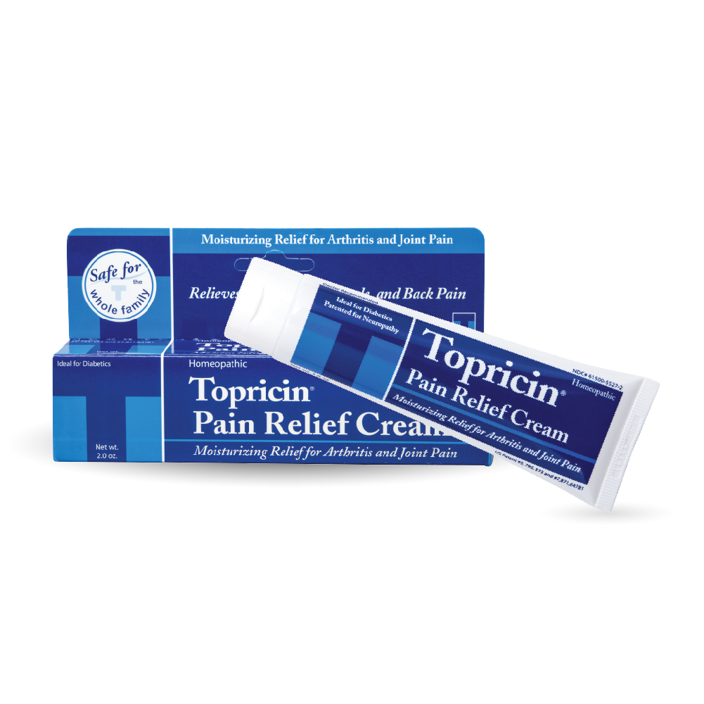 A package of Topricin Cream 2 oz Tube