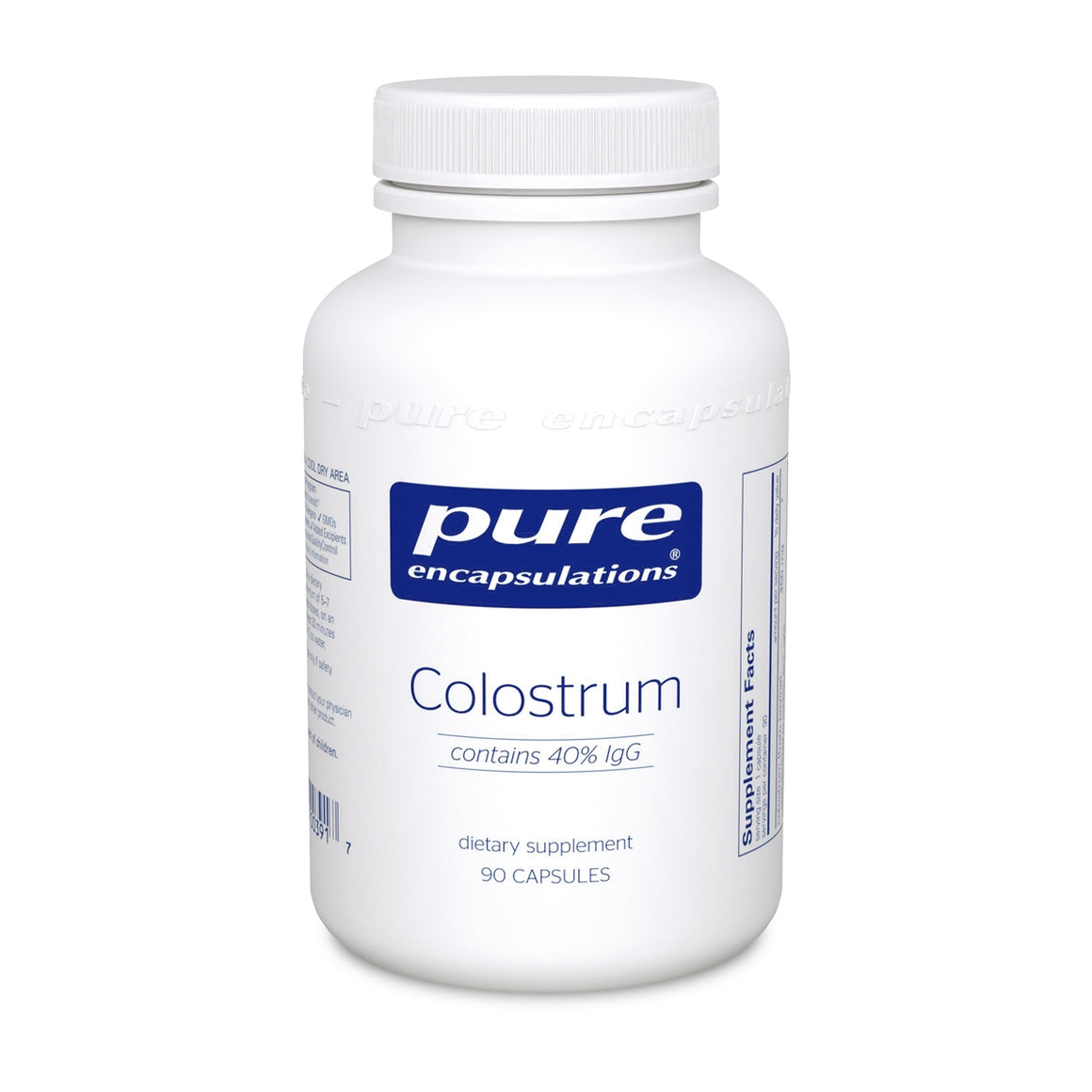 A bottle of Pure Colostrum 40% IgG