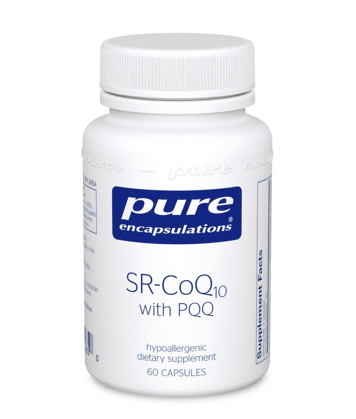 A bottle of Pure SR-CoQ10 with PQQ
