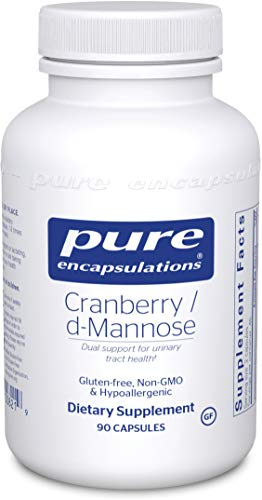 A wide bottle of Pure Cranberry/D-Mannose