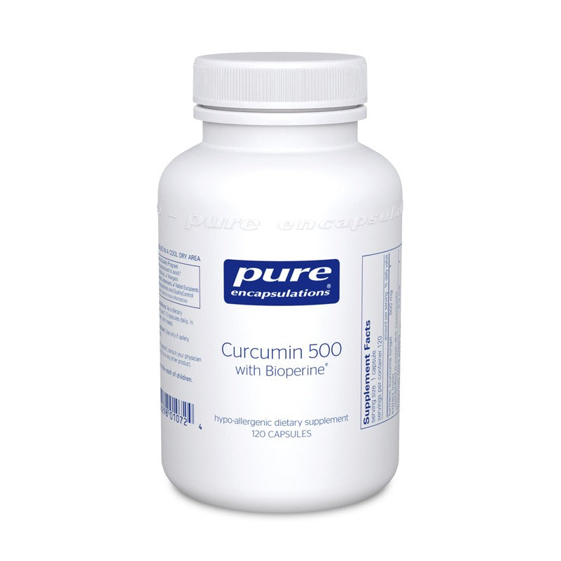 A bottle of Pure Curcumin 500 with Bioperine®