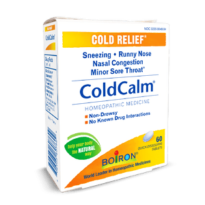A package of Boiron ColdCalm® Tablets