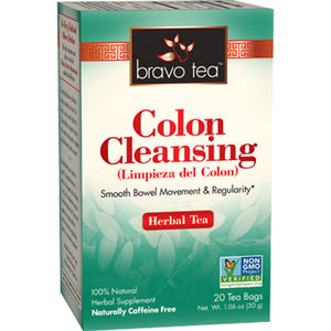A box of Bravo Tea Colon Cleansing Tea