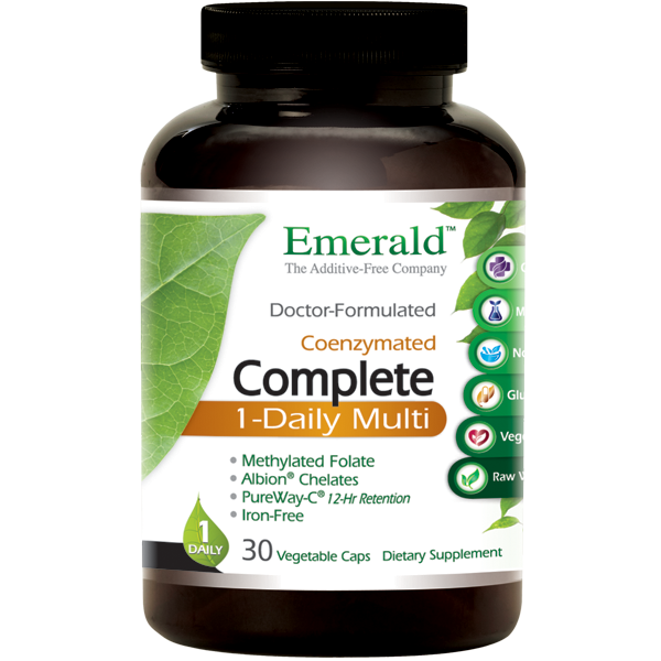 A bottle of Emerald Complete 1-Daily Multi