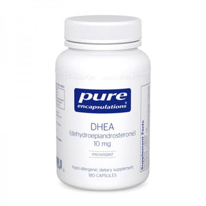 A bottle of Pure DHEA 10 mg