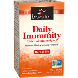 A box of Bravo Tea Daily Immunity Tea
