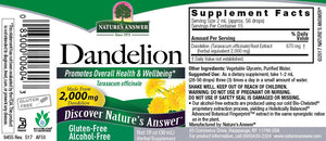 Dandelion Root Alcohol Free Extract