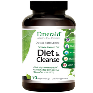 A bottle of Emerald Diet & Cleanse