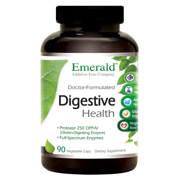 A bottle of Emerald Digestive Health