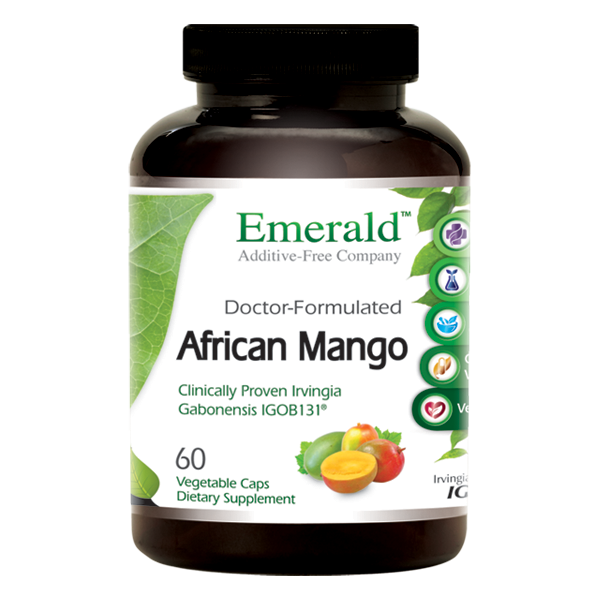 Jar of Emerald African Mango capsules