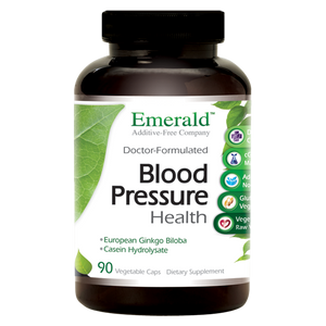 A jar of Emerald Blood Pressure Health