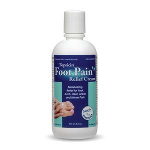 A bottle of Topricin Foot Therapy Cream 8 oz