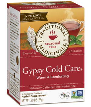 A box for Traditional Medicinals Gypsy Cold Care Tea