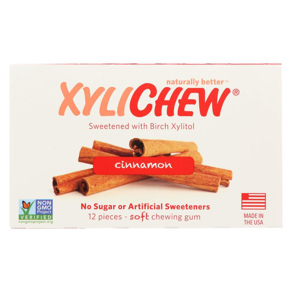 A package of XyliChew Gum Cinnamon Blister Pack