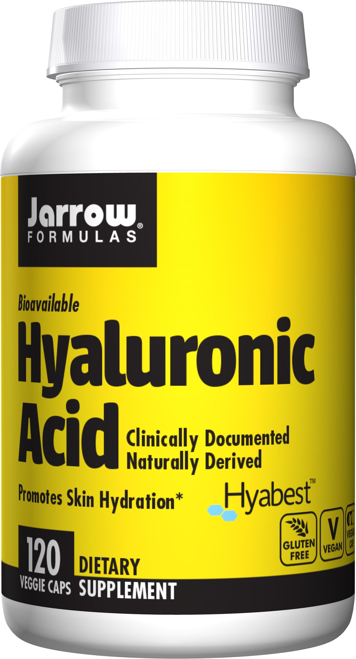 A bottle of Jarrow Hyaluronic Acid